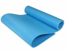 Коврик спортивный для тренировок на улице и в зале 1800х600х5 мм голубой